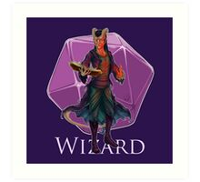 Dungeons and Dragons Wizard Art Print