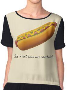 Ceci n'est pas un sandwich. Chiffon Top