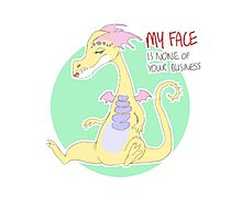 my face is none of your business Photographic Print