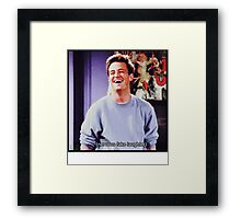 nervous fake laughter Framed Print