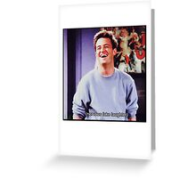 nervous fake laughter Greeting Card