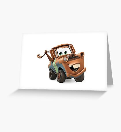 Tow Mater Cars Greeting Card
