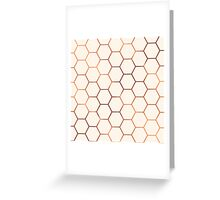 Rose gold copper honeycomb Greeting Card