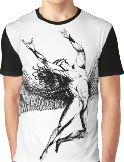 ICARUS THROWS THE HORNS - black Graphic T-Shirt