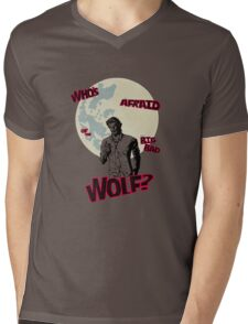 Who's Afraid of The Big Bad Wolf? Mens V-Neck T-Shirt