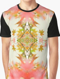 Sweet Autumn Kaleidoscope Design Print Graphic T-Shirt
