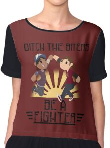 Ditch The Biters, Be A Fighter Chiffon Top