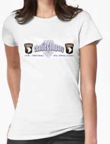 Currahee - Charlie Company - 1st Bn / 506th Infantry  -  101st Airborne (Airmobile) Womens Fitted T-Shirt
