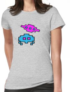 RETRO SPACE CHARACTERS Womens Fitted T-Shirt