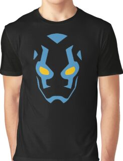 Blue Beetle Mask Graphic T-Shirt