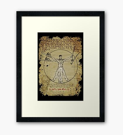 The Ash-Truvian Man Framed Print