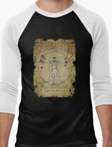 The Ash-Truvian Man Men's Baseball ¾ T-Shirt