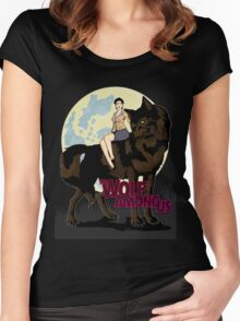 One Big Bad Wolf Women's Fitted Scoop T-Shirt