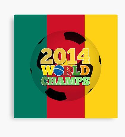 2014 World Champs Ball - Cameroon Canvas Print