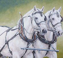 Percheron pair by Pauline Sharp