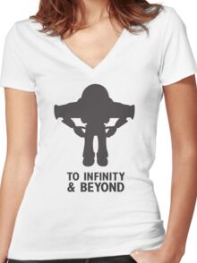 Buzz Lightyear: To Infinity & Beyond - Black Women's Fitted V-Neck T-Shirt