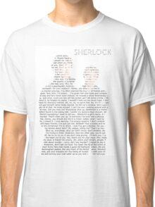 Sherlock Typography Classic T-Shirt