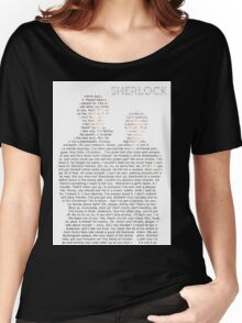 Sherlock Typography Women's Relaxed Fit T-Shirt
