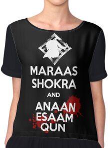 Keep Calm - Maraas Shokra and Anaan Esaam Qun Chiffon Top
