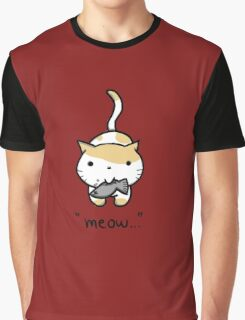 Meow Cat Graphic T-Shirt