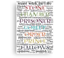 Harry Potter Typography Canvas Print