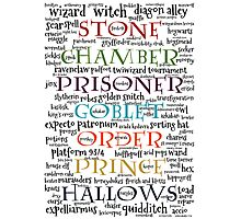 Harry Potter Typography Photographic Print
