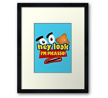 Hey Look I'm Picasso Toy Story Framed Print