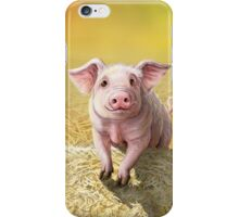 Cute Pink Pig, Original Illustration by Cara Bevan iPhone Case/Skin
