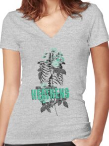 All My Friends Are Heathens Women's Fitted V-Neck T-Shirt