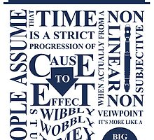 Doctor Who Typography by BookishRealms