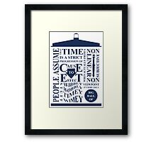 Doctor Who Typography Framed Print