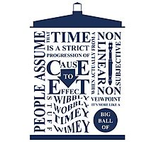 Doctor Who Typography Photographic Print