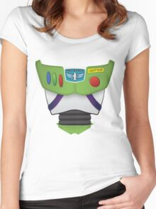 Buzz Lightyear Chest - Toy Story Women's Fitted Scoop T-Shirt