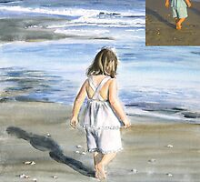 Walk on the Beach by Laurie Bostian