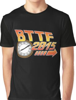 Back to the Future 2015 Logo with Clock Graphic T-Shirt