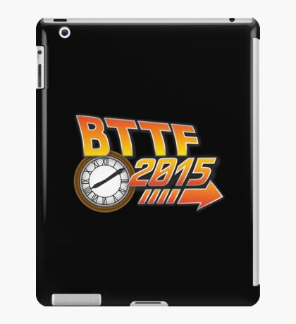 Back to the Future 2015 Logo with Clock iPad Case/Skin
