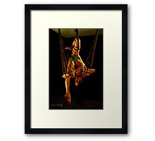 Phoenix Bird Hatched Framed Print