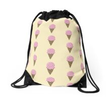 Strawberry Ice Cream Pattern Drawstring Bag