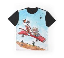 Calvin and Hobbes Fear and Loathing Parody Graphic T-Shirt