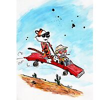 Calvin and Hobbes Fear and Loathing Parody Photographic Print