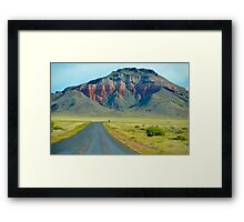 Volcano in Arizona Framed Print
