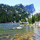 Hallett Peak at Dream Lake by Bernie Garland