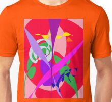 Bold Colors Abstract Art Red Unisex T-Shirt