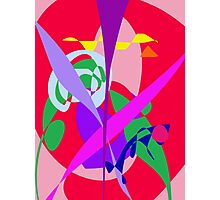 Bold Colors Abstract Art Red Photographic Print