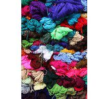 Bundles of Yarn at the Market Photographic Print