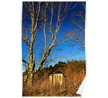 The Old Farmstead Outhouse Poster