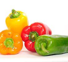 Bell peppers.  by Oleg Zaslavsky