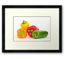 Bell peppers.  Framed Print