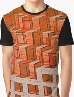 Abstract Architecture in Red Graphic T-Shirt