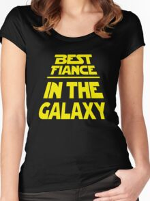 Best Fiance in the Galaxy - Title Crawl Women's Fitted Scoop T-Shirt